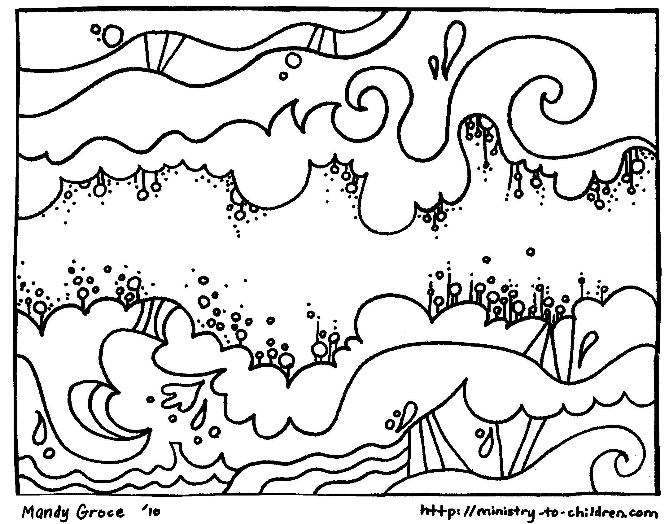 "Creation Coloring Pages ""God Made the Sky"" – Welcome To Grace Church ..."